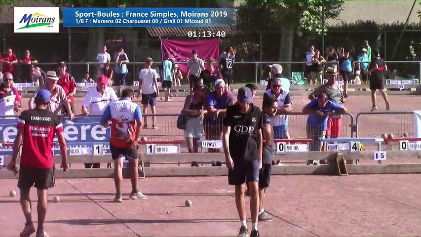 Huitièmes de finale, France Simples, Moirans 2019