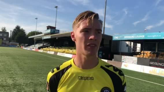 WATCH: Video interview with Harrogate Town's Alex Bradley after Stockport County win