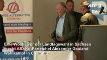 Gauland macht Wahlkampf in Chemnitz