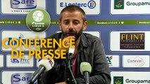 Conférence de presse FC Chambly - Châteauroux (0-0) : Bruno LUZI (FCCO) - Nicolas USAI (LBC) - 2019/2020