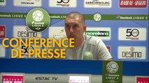 Conférence de presse ESTAC Troyes - RC Lens (2-0) : Laurent BATLLES (ESTAC) - Philippe  MONTANIER (RCL) - 2019/2020