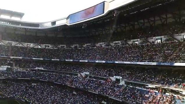 Así coreo el Bernabéu el su primera jornada de Liga