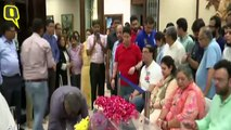 Leaders Pay Homage to Arun Jaitley at His Residence