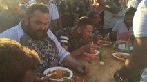 LIEGE - Flemalle - Concours du plus grand mangeur de spaghettis à la fête de la tomate à Flemalle
