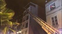 Sinop'ta bir otelin mutfağında yangın çıktı