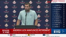 Andrew Luck Retirement Press Confrence - Breaking News