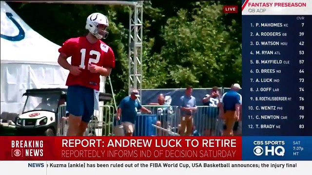 Colts QB Andrew Luck to retire from NFL, effective immediately - BREAKING NEWS
