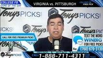 Virginia Pittsburgh College Football Pick 8/31/2019