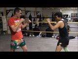 Muay Thai step up knee technique (Round 2 Ep. 1)