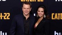 """Matt Damon and Luciana Barroso """"Catch 22"""" Premiere Black Carpet"""
