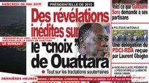 Le Titrologue du 08 Mai 2019 : Présidentielle 2010, des révélations inédites sur le choix de Ouattara