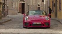 Porsche 911 Speedster in Guards Red Driving Video