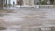 Mississippi River flooding receding