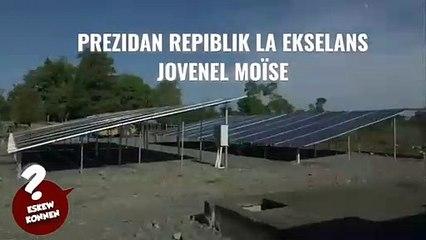 Jovenel Moïse Enstale nan Ferye ( Nòdès) yon sistèm ponpaj solè