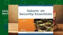 Library  Solaris 10 Security Essentials - Sun Microsystems Press