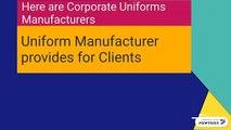 Corporate Uniforms Manufacturers