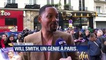 Will Smith était avec ses fans ce mercredi à Paris pour la sortie d'Aladdin