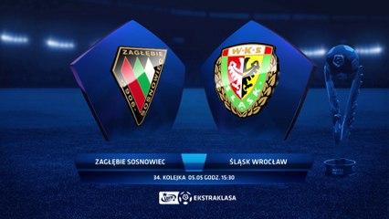 Zagłębie Sosnowiec 2:4 Śląsk Wrocław - Matchweek 34: HIGHLIGHTS