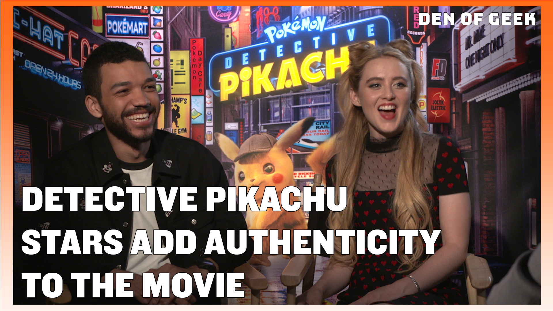Detective Pikachu (2019) - Justice Smith and Kathryn Newton Interview