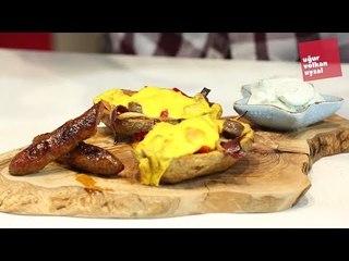 Harbi Sosisli Pastırmalı Patates Tarifi