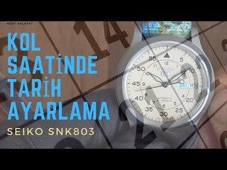 Saat Takvimi Nasıl Ayarlanır - Seiko 5 (Snk803k2)