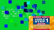 First Aid for the USMLE Step 1 2019, Twenty-Ninth Edition  Best Sellers Rank : #3