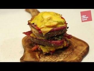 Dana Fümeli Kat Kat Kule  Sandviç Nasıl Yapılır (Enfes Yemek Tarifleri)