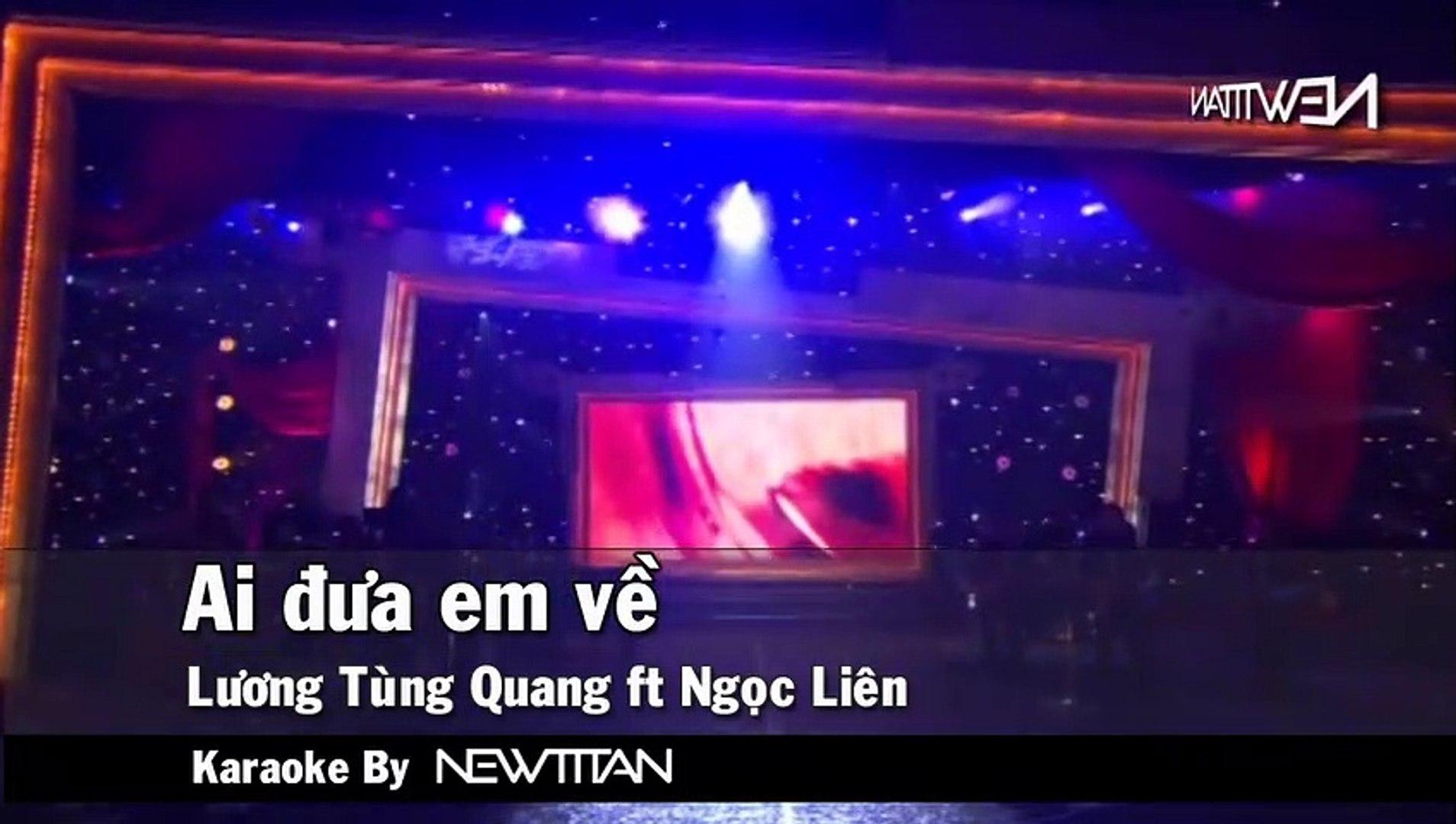 [Karaoke] Ai Đưa Em Về - Lương Tùng Quang Ft. Ngọc Liên [Beat]