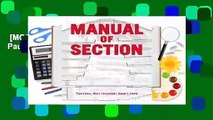 [MOST WISHED]  Manual of Section by Paul Lewis