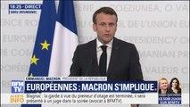 """Emmanuel Macron sur les européennes: """"Nous avons besoin de tout, sauf d'avoir le Rassemblement National en tête"""""""