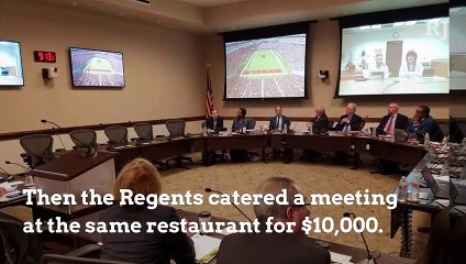 Regent spend public money on meals with family, friends