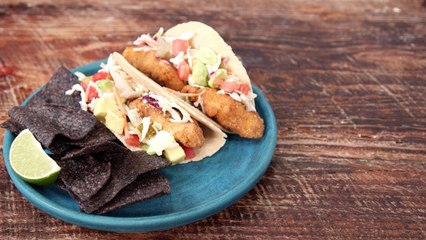 BBQ Fried Catfish Tacos