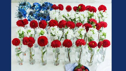 How To Make a Floral Flag Centerpiece