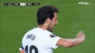 Aubameyang second goal against Valencia (2-3)