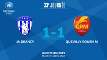 J33 : JA Drancy - Quevilly Rouen M. (1-1), le résumé