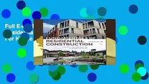 Full E-book Fundamentals of Residential Construction  For Kindle