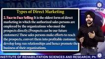 Direct Marketing, Types of  Direct Marketing | Mr. Inderpreet Singh | BBA | TIAS | Tecnia TV