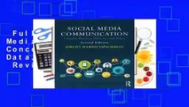Full E-book  Social Media Communication: Concepts, Practices, Data, Law and Ethics  Review