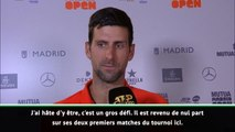 """Madrid - Djokovic : """"Un gros défi contre Cilic"""""""