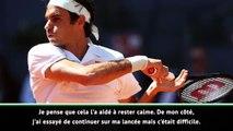 """Madrid - Federer : """"Très content d'avoir pu remporter ce match"""""""