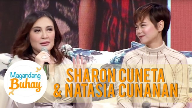 Natasia gets emotional when she started sharing about Sharon's help in her life   Magandang Buhay