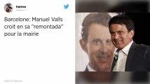 Aux élections municipales de Barcelone, Manuel Valls espère une «remontada»
