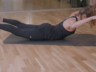 5 minute Fit Body Plan Fitness Challenge: Week 9, Back Extensions