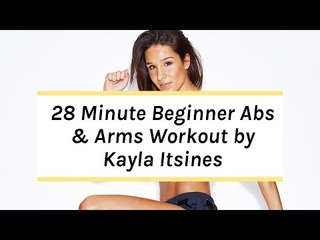 Kayla Itsines Workout | No Kit Arms + Abs Beginner Session