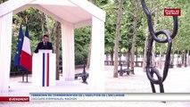 Commémorations de l'abolition de l'esclavage: le discours d'Emmanuel Macron
