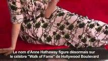 Anne Hathaway émue Par Son étoile à Hollywood Vidéo