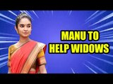 Manu to help widows in TV show Jhansi Ki Rani