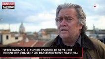 Steve Bannon, ancien conseiller de Trump, avoue donner des conseils au Rassemblement national (vidéo)