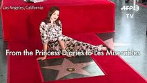 Anne Hathaway gets Hollywood Walk of Fame star