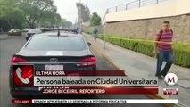 Reportan balacera en la Facultad de Filosofia y Letras, UNAM